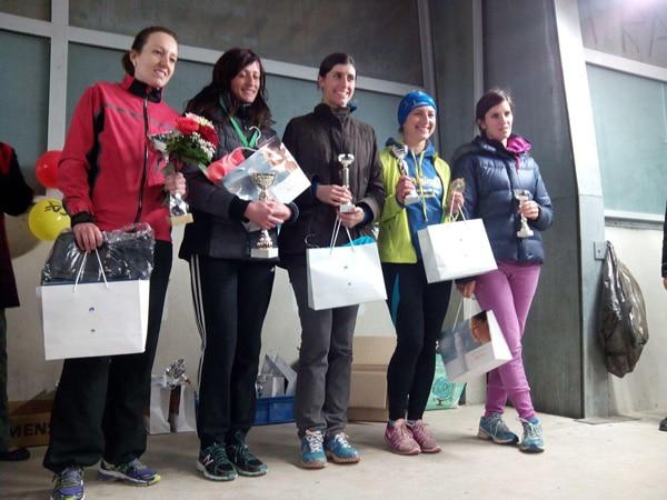 Ana Monreal (Sirea Spain) on the podium of the 10km de Castres 2015