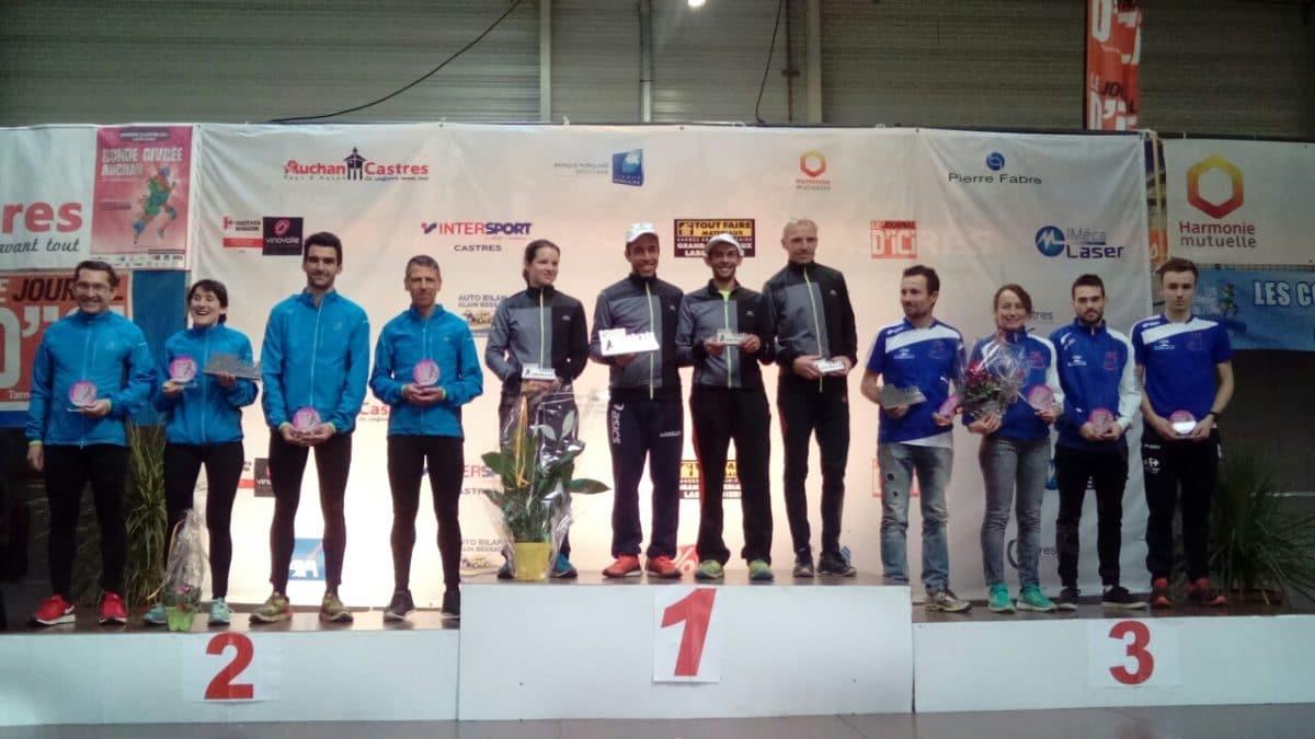 Sirea monte sur le podium Mixe 1 de la Ronde Givrée 2017