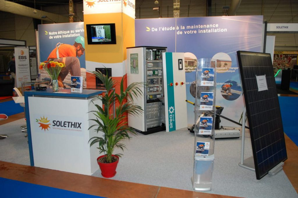 A Sirea electric cabinet at the Solethix booth at the 2017 Habitat Show in Castres
