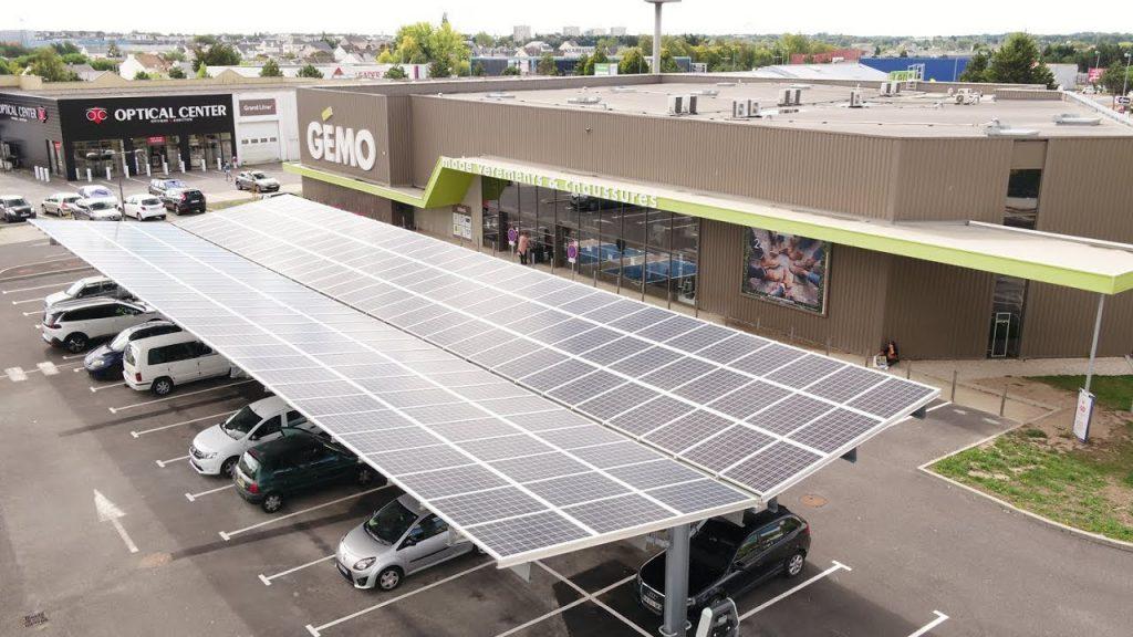 Gémo photovoltaic shade in Trignac