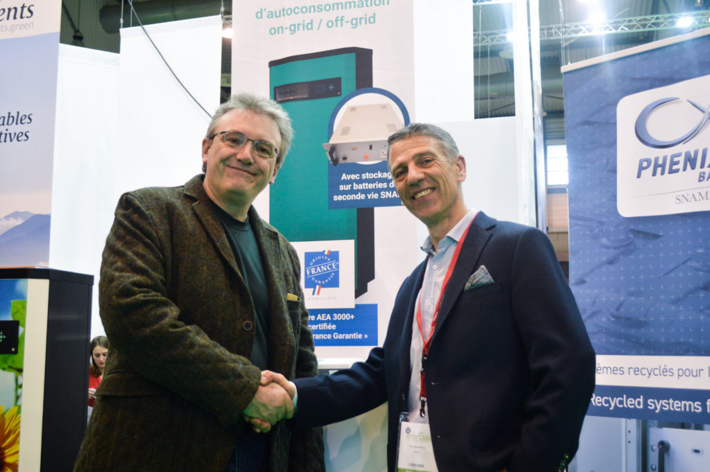 Eric Nottez (SNAM Groupe) et Bruno Bouteille (Sirea Group) au salon EnerGaïa 2019 à Montpellier