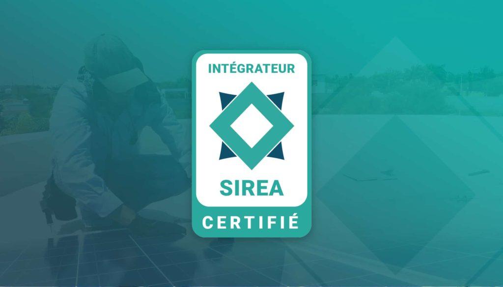 """Image du badge """"Intégrateur Sirea certifié"""""""