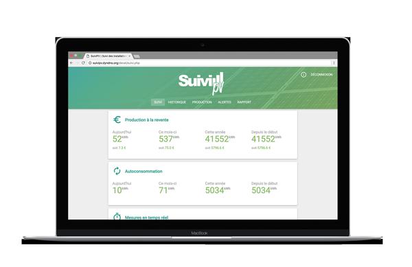 SuiviPV web app