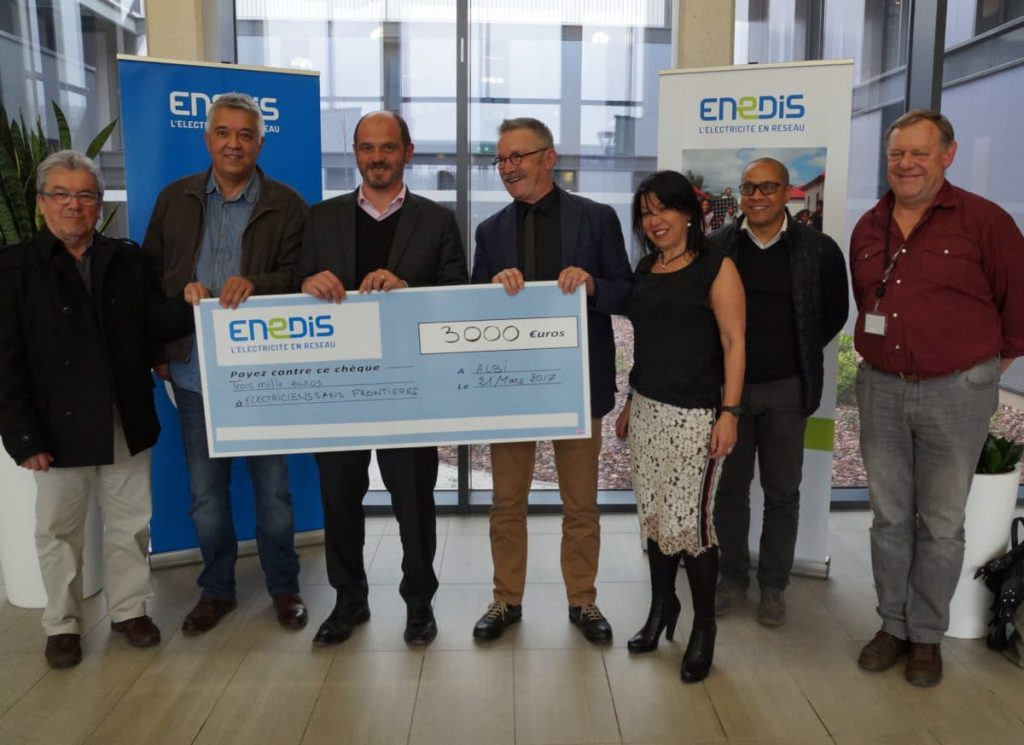 Enedis y Sirea apoyan a la asociación Électriciens Sans Frontières