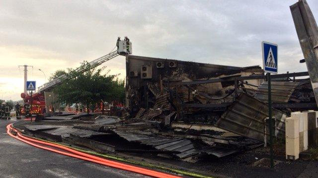 Ce qu'il restait de Sirea au matin de l'incendie le lundi 14 septembre 2015