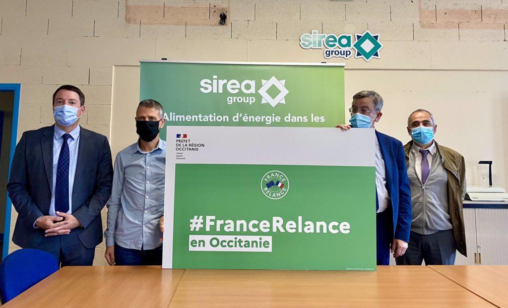 France Relance in Occitania (French region): Jean Terlier, François Proisy and Claude Le Gloahec visit Sirea